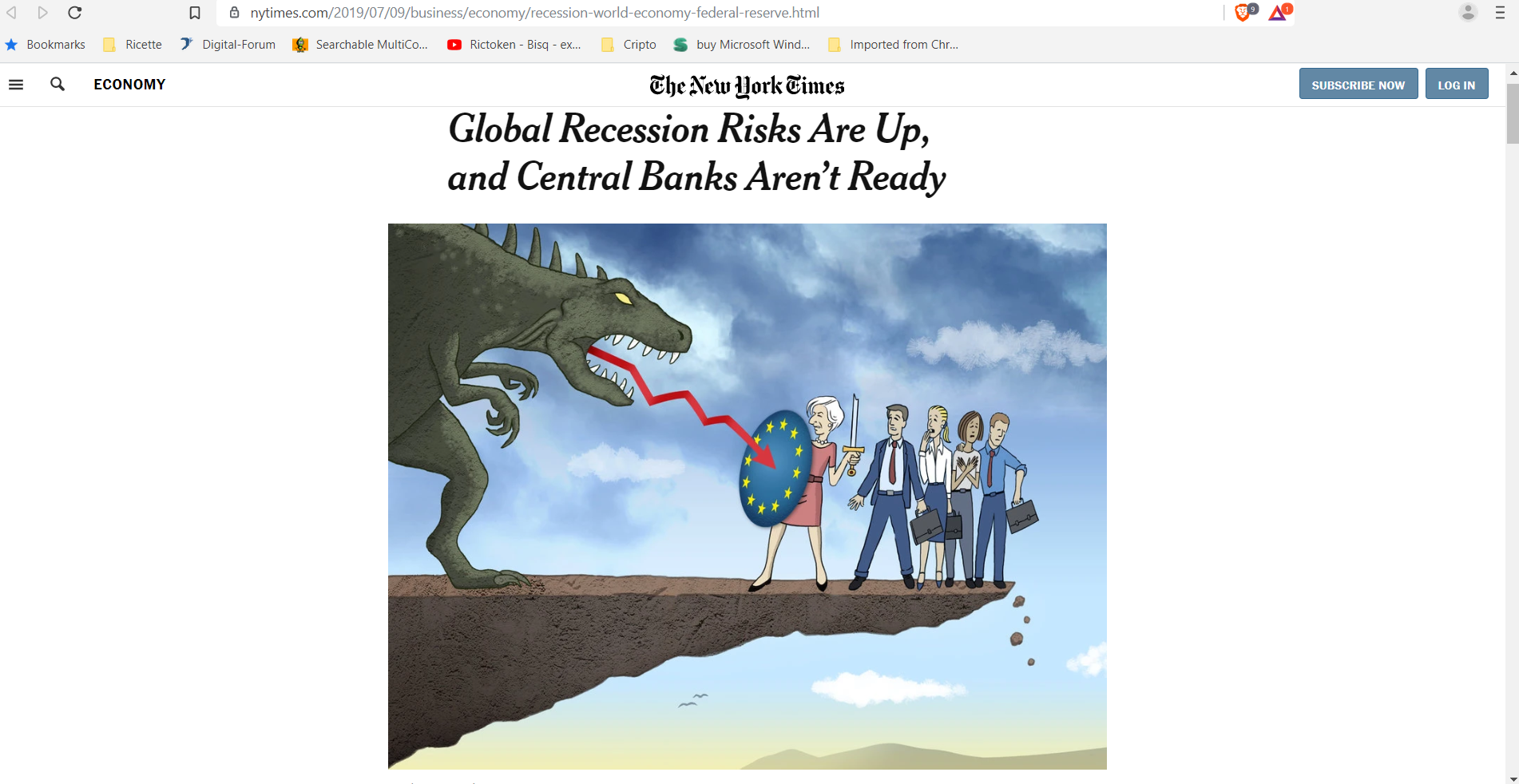 Global recession New York times